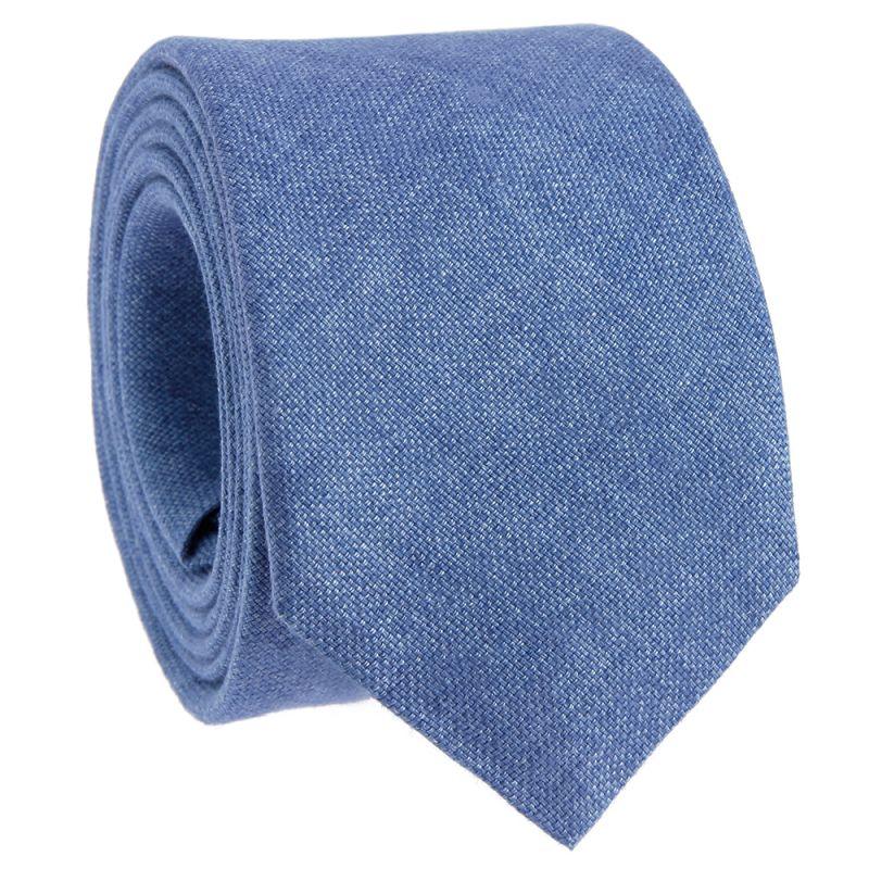 Cravate bleu ciel en lin