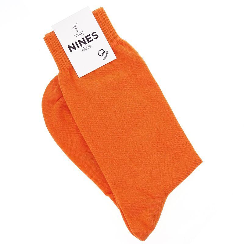 Chaussettes coton bio orange