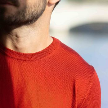 Pull Col Rond Rouille - Cashwool