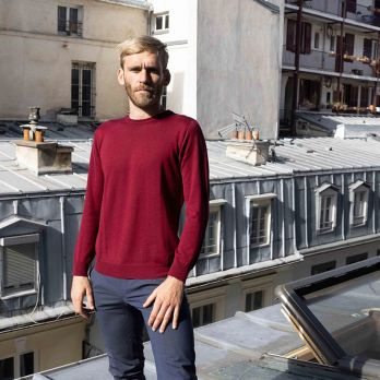 Pull Col Rond Bordeaux - Cashwool