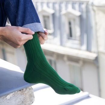 Chaussettes solides vert pin - Long Life