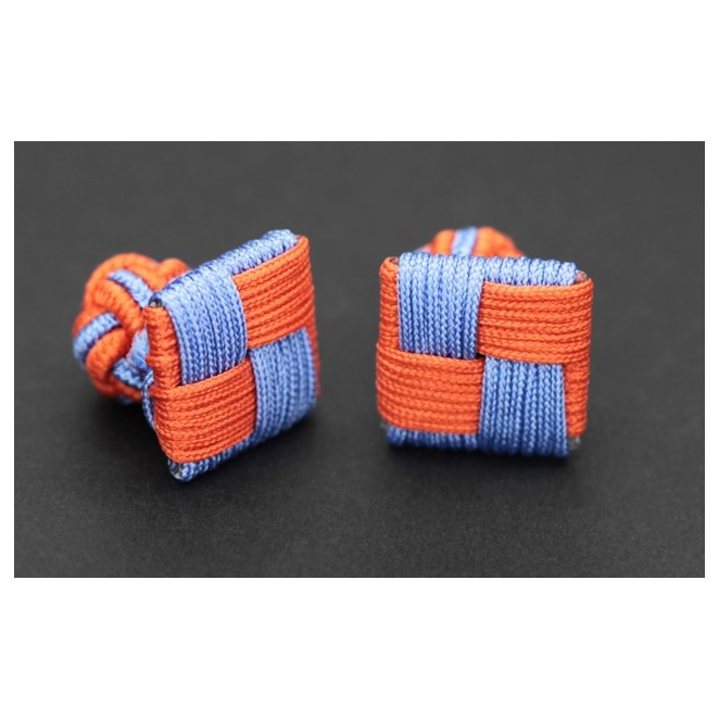 passementerie carr e orange et bleu ciel manille. Black Bedroom Furniture Sets. Home Design Ideas