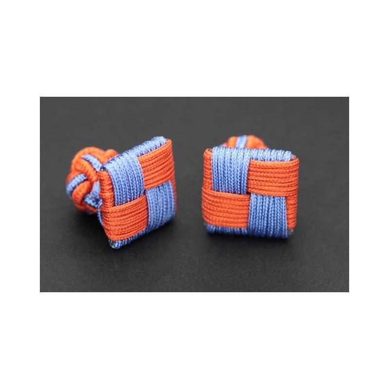 passementerie carr e orange et bleu ciel manille. Black Bedroom Furniture Sets. Home Design Ideas