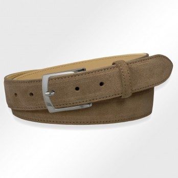 Ceinture marron Kinder en daim - Pete