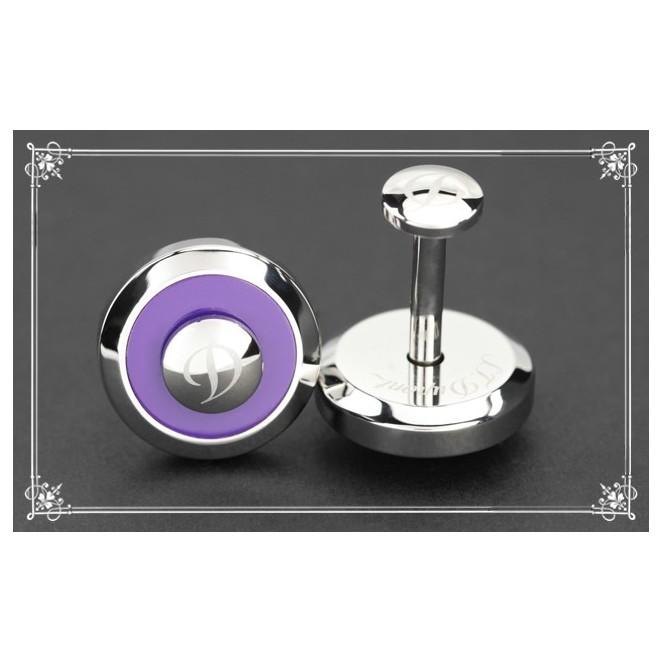 Boutons de manchette S.T Dupont - Jeton inox réversible violet