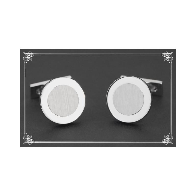 Boutons de manchette S.T Dupont - Ronds palladium brossé