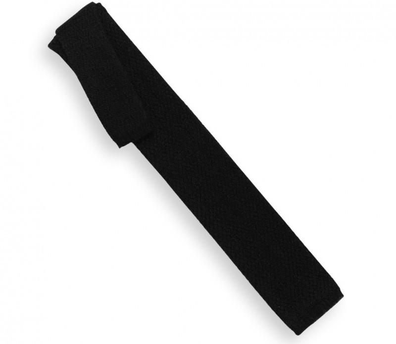 Cravate en cachemire noir - Vérone