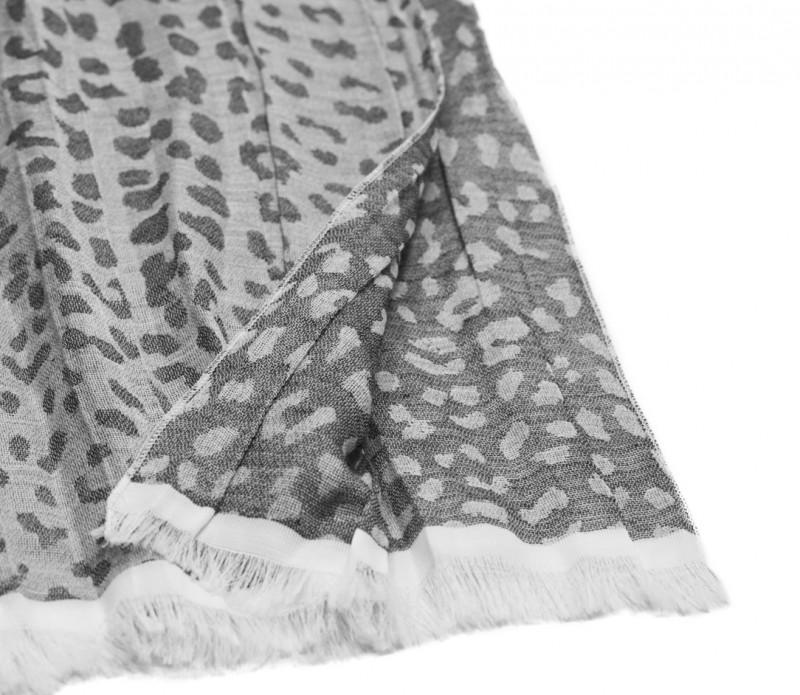 8de060bef6147 Echarpe à rayures framboises et rose pâle - Comptoir du Foulard