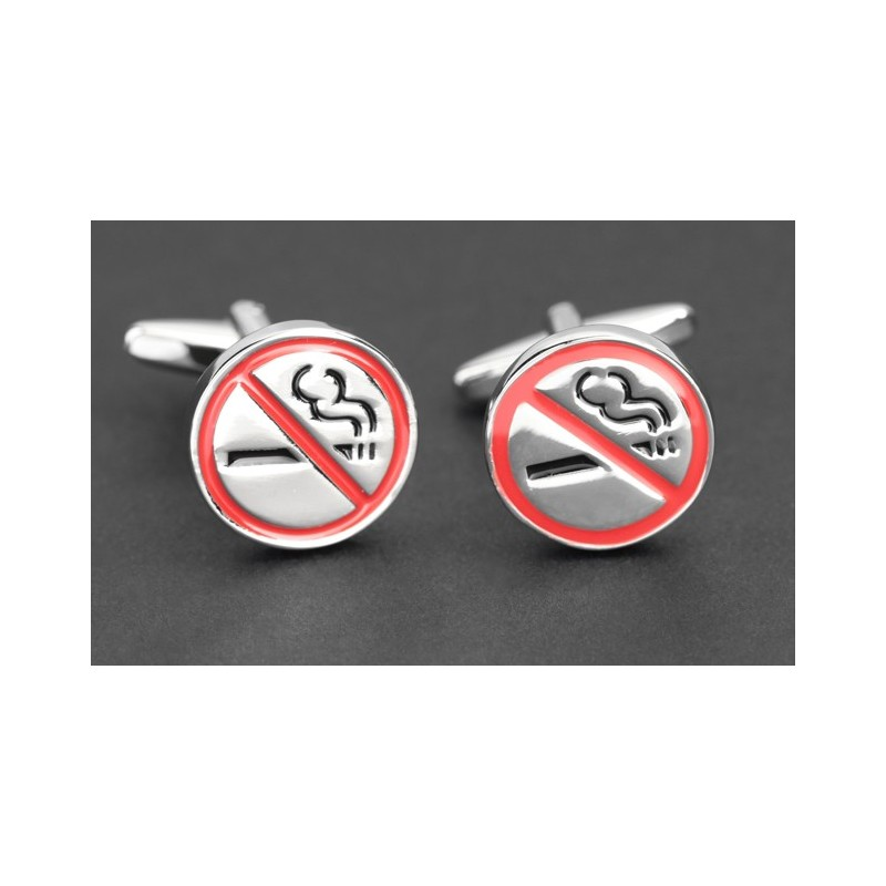 Boutons de manchette No Smoking