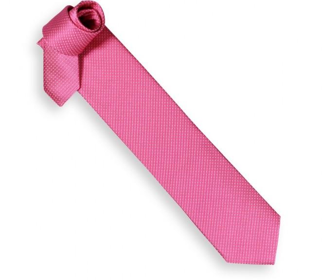 Cravate hackett rose bonbon petits pois blancs la - La maison de la cravate ...