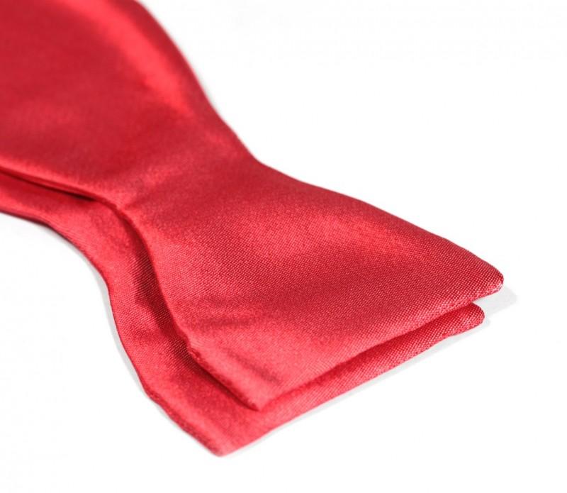 ac2cae22e6c7e Noeud papillon satin rouge corail Monaco II - Maison de La Cravate