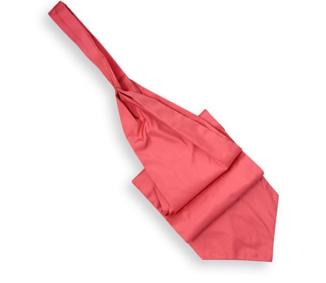 Ascot lavalli re h ritage corail en soie sauvage - La maison de la cravate ...