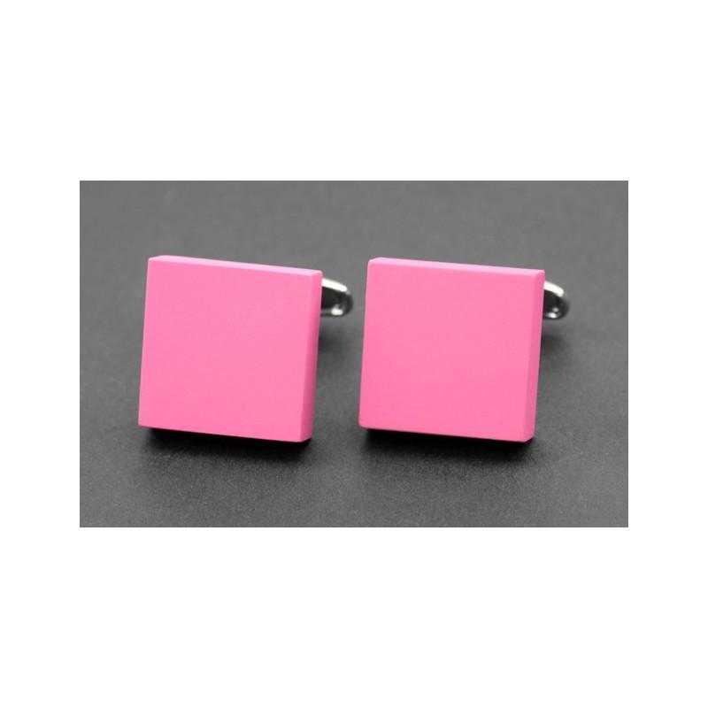 Boutons de manchette carrés roses mats - Kiruna