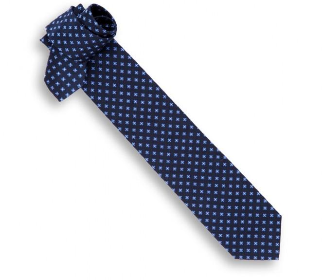 Cravate hackett bleu marine motifs fleurs bleues la - La maison de la cravate ...