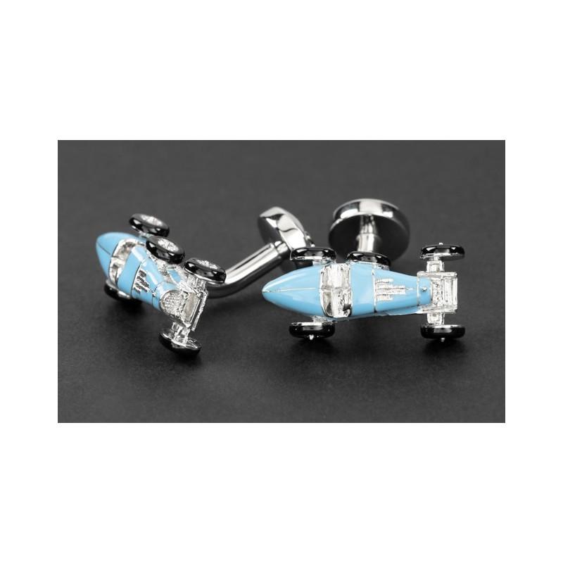 Boutons de manchette voiture bleu ciel - Retro Type 35