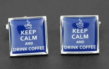 Boutons de manchette Keep Calm and Drink Coffee