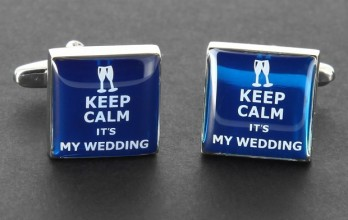 Boutons de manchette Keep Calm it's My Wedding