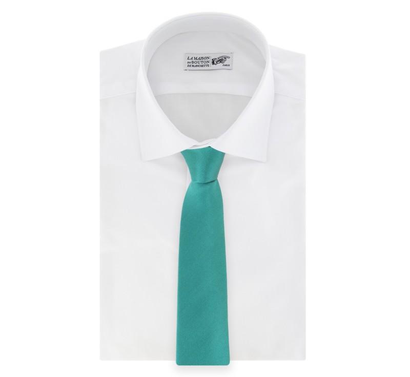 Cravate satin vert emeraude bellagio la maison de la - La maison de la cravate ...