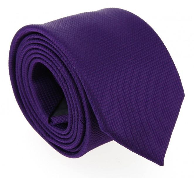 Cravate hugo boss faux uni violeten laine la maison de - La maison de la cravate ...