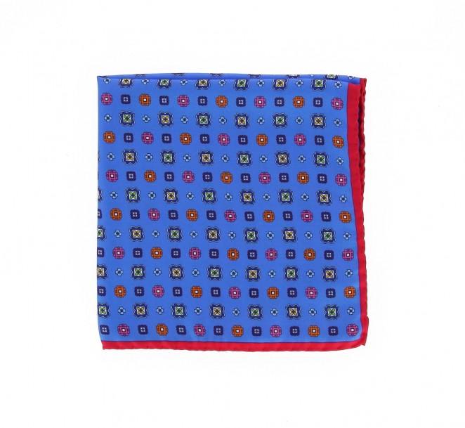 Pochette bleu ciel motif la maison de la cravate - La maison de la cravate ...