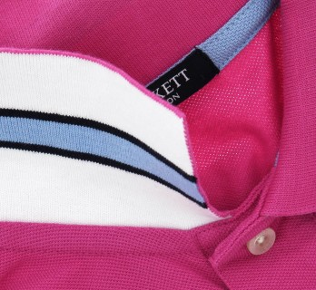 Polo number Hackett rose hibiscus coupe ajustée