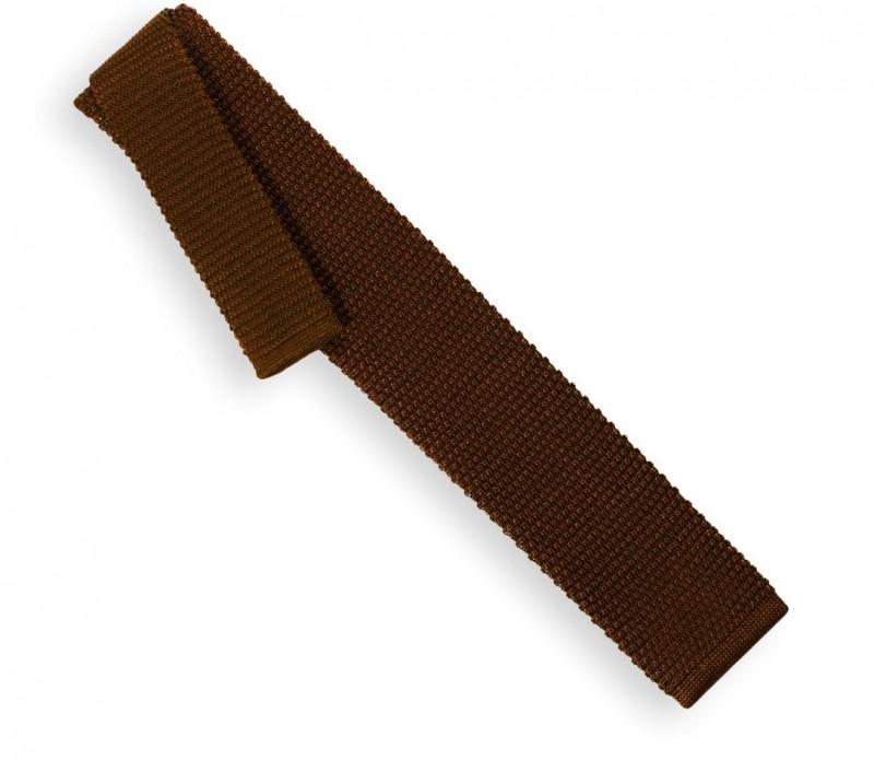 Cravate en tricot chocolat - Monza