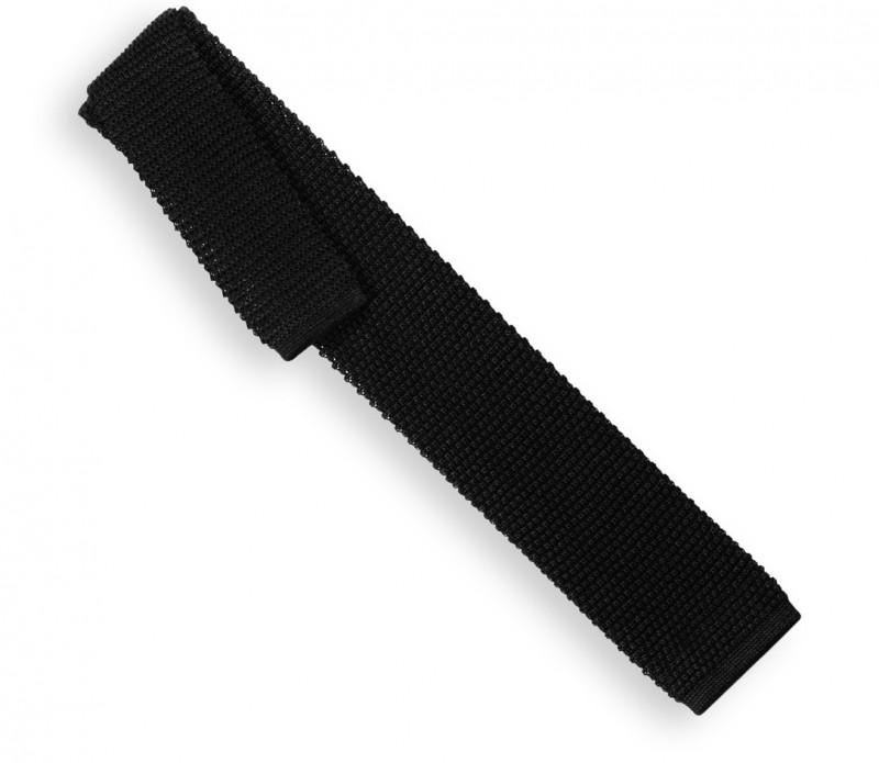 c4d145625a6df Cravate tricot noire Monza - Vente cravate - Maison de La Cravate
