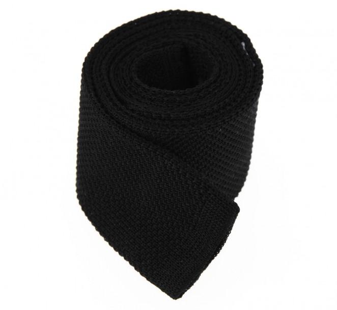 Cravate en tricot de coton noir la maison de la cravate - La maison de la cravate ...
