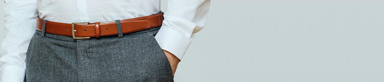 D une hauteur de 3 cm, la ceinture de largeur « étroite » s  adapte  parfaitement aux passants des pantalons de costume. f79b1afef8f