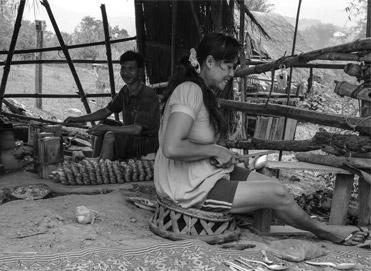 Laos cufflinks