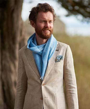 veste en lin écharpe