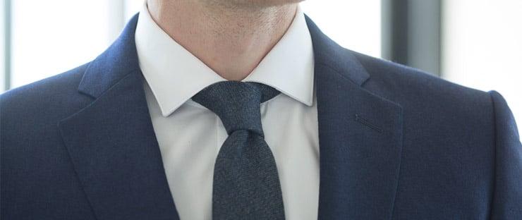 sea island cotton shirt shark collar