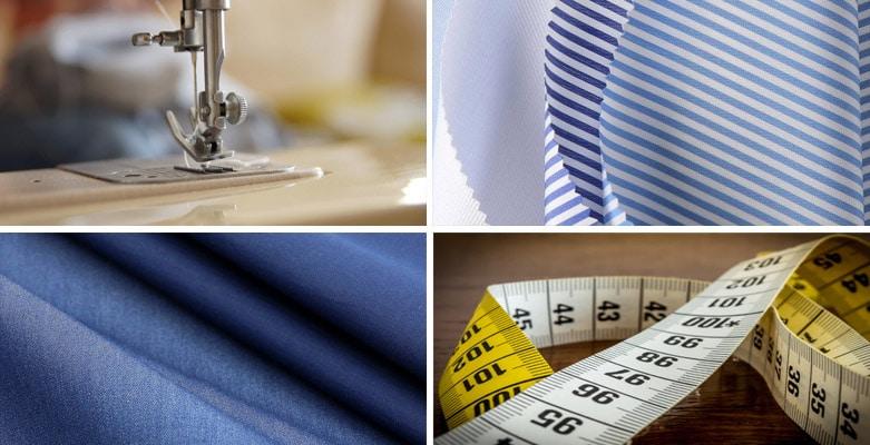 Nähprozess eines Hemd