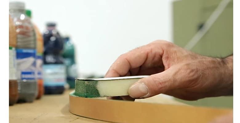 Peinture éponge ceinture