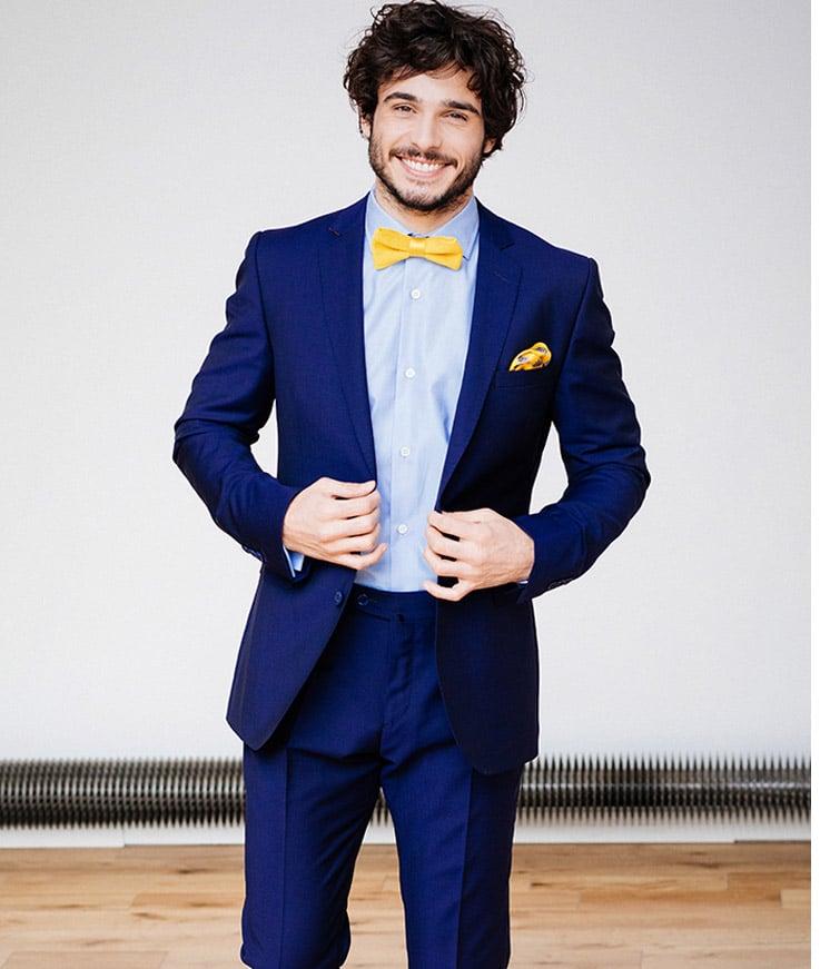 Anzug bordeaux fliege blauer Blauer Anzug,