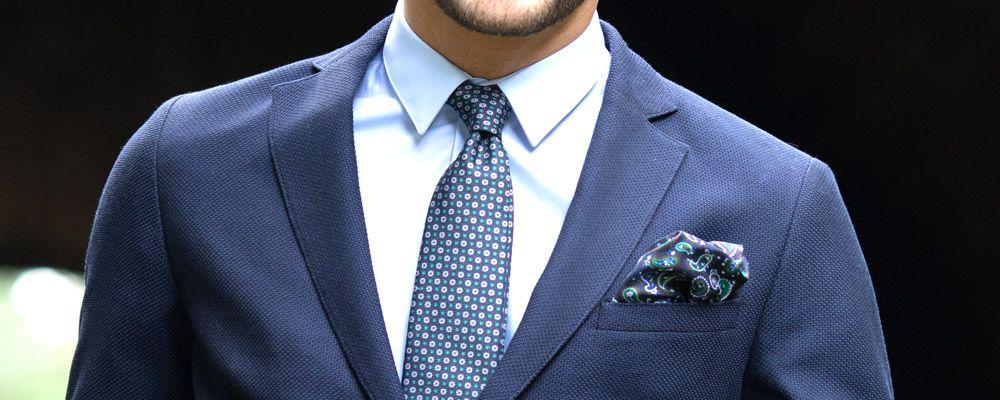 Pochette de costume motif cachemire