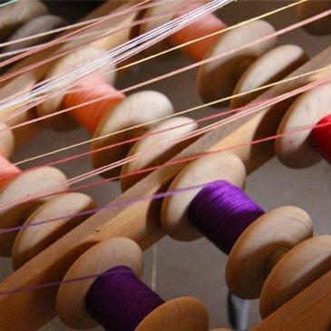 Tissage fils de couleurs