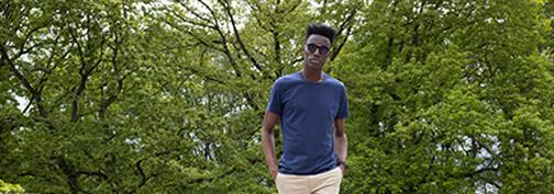 T-shirt technique bleu