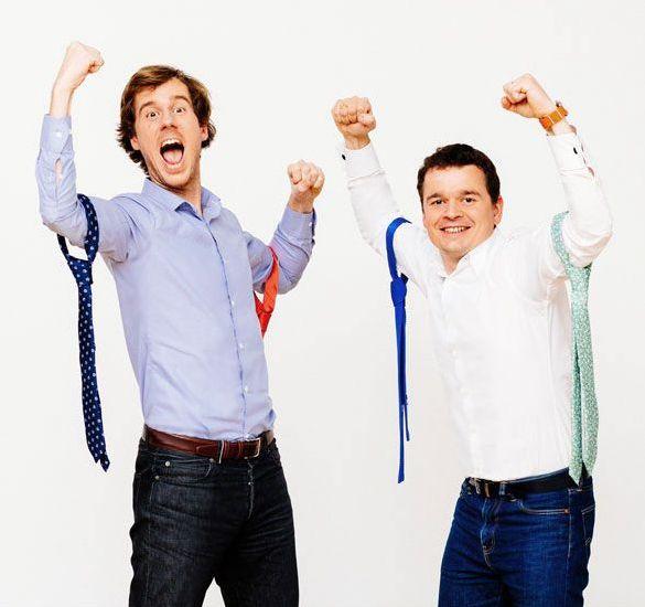 ... appris au lycée et surtout le savoir-faire et la qualité du travail  permettront à Erwan et Renaud de créer leur première collection de cravates. b0e59ecc528