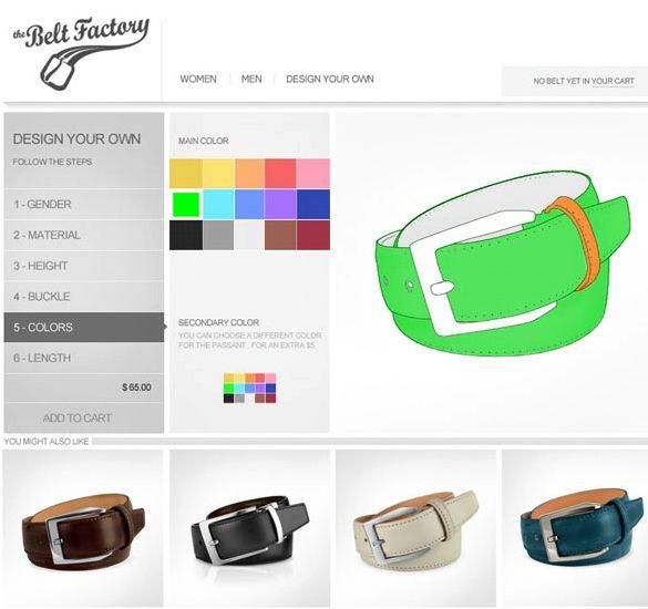 new product 0d08e 3b936 ... de sa ceinture, de la forme de la boucle aux couleurs des passants –  220 000 combinaisons possibles – et d afficher le résultat directement à  l écran.