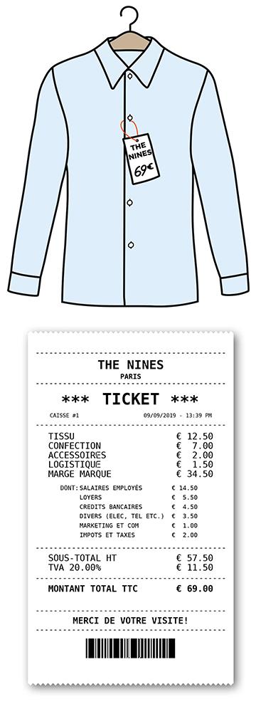 Prix chemise homme The Nines