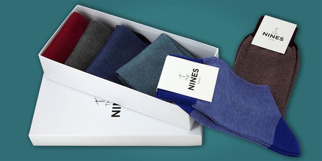 131c50dfec9a6 Chaussettes homme, mi-bas de qualité par The Nines - Le Chaussetier