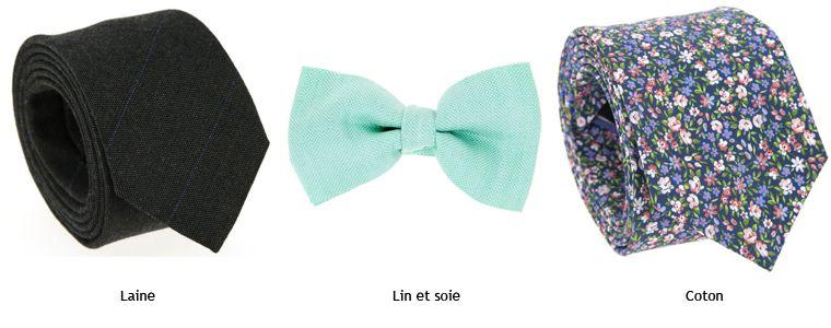 handicaps structurels esthétique de luxe section spéciale Les différentes matières de cravates