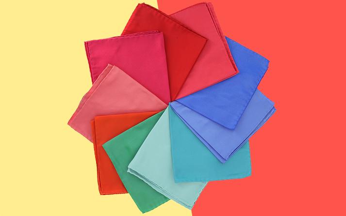 pochettes de couleur