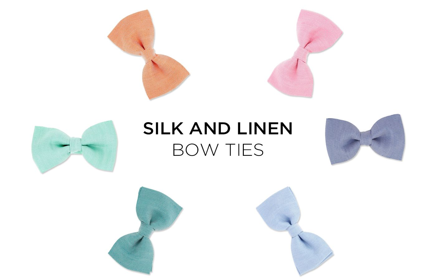 Pastel bow ties