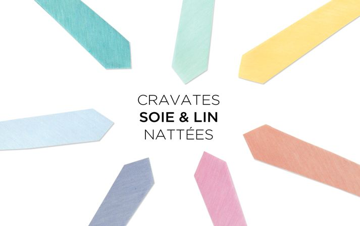 Cravates pastel