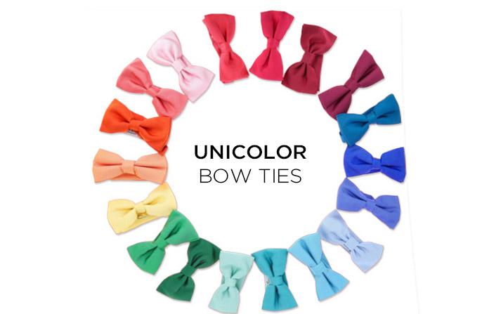 unicolour bow ties