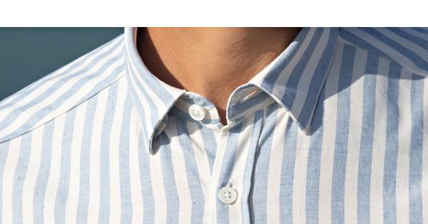 Chemise homme large rayure bleu ciel
