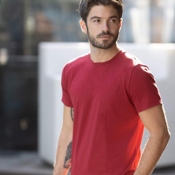t-shirt lyocell coton rouge syrah