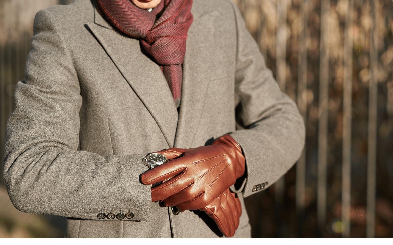 gants cuir homme agneau